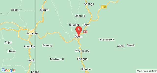 map of Oyem, Gabon