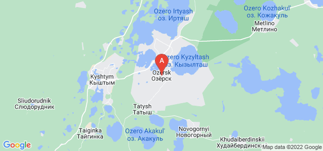 map of Ozyorsk, Russia