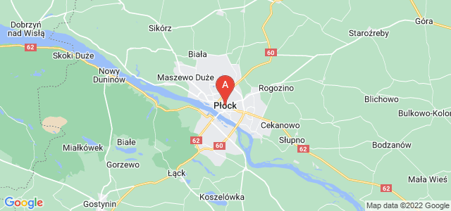 map of Płock, Poland