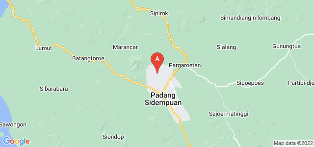 map of Padang Sidempuan, Indonesia