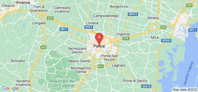 map of Padua, Italy