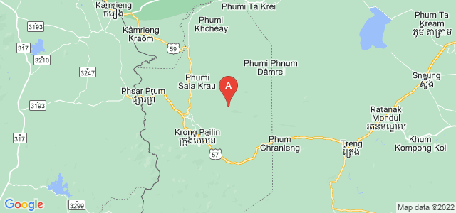 map of Pailin, Cambodia