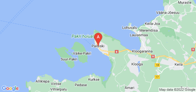 map of Paldiski, Estonia