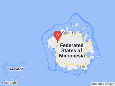 map of Palikir, Federated States of Micronesia