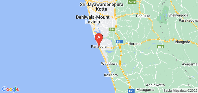 map of Panadura, Sri Lanka