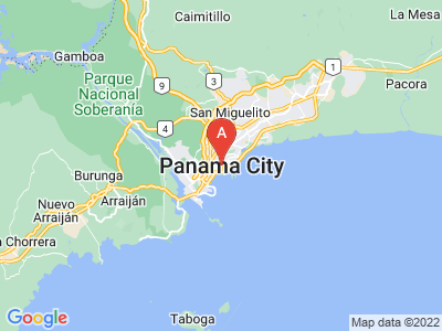 map of Panama City, Panama