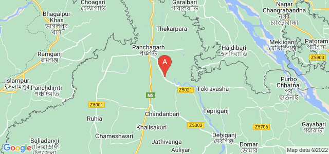 map of Panchagarh, Bangladesh