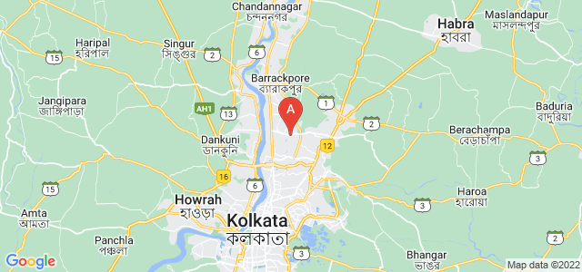 map of Panihati, India