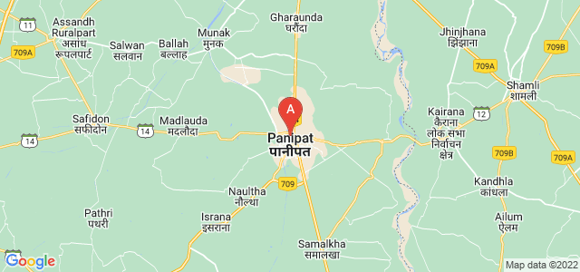 map of Panipat, India