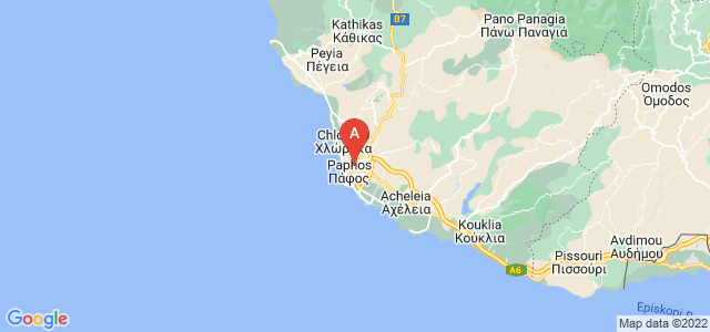 map of Paphos, Cyprus