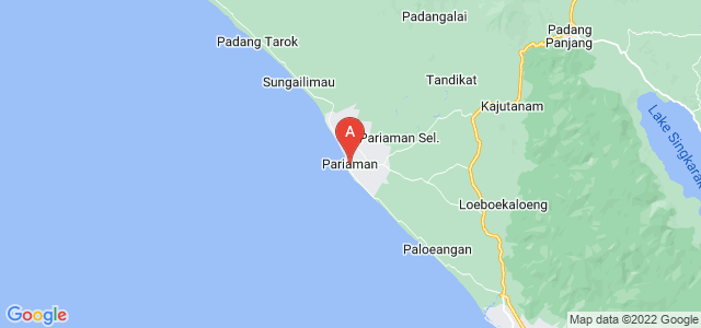 map of Pariaman, Indonesia
