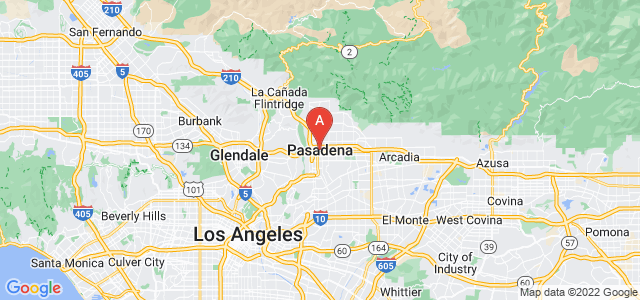 map of Pasadena (CA), United States of America
