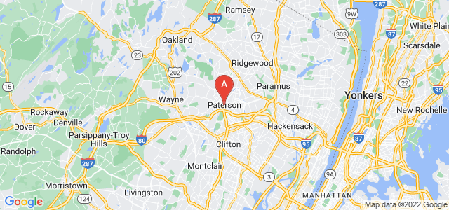 map of Paterson, United States of America