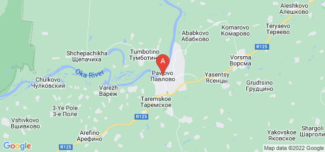 map of Pavlovo, Russia
