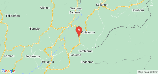 map of Pendembu, Sierra Leone