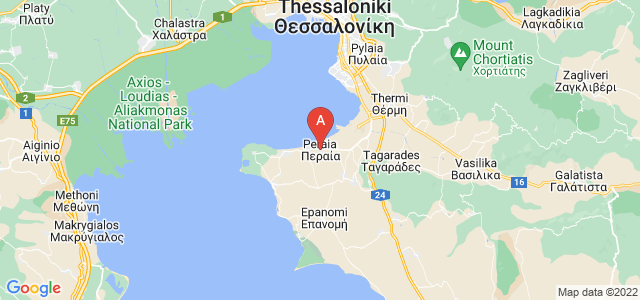 map of Peraia, Greece