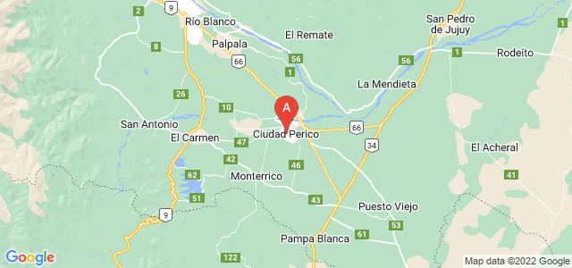 map of Perico, Argentina