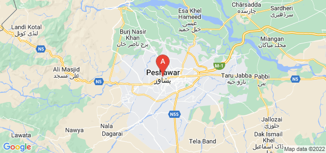 map of Peshawar, Pakistan