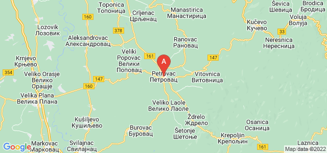 map of Petrovac na Mlavi, Serbia