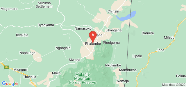 map of Phalombe, Malawi