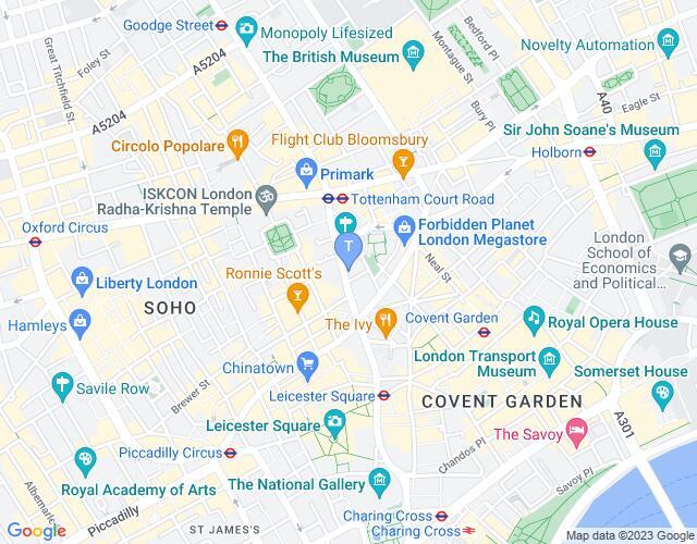 Location map for Phoenix Theatre
