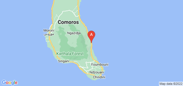 map of Pidjani, Comoros