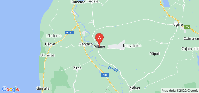 map of Piltene, Latvia