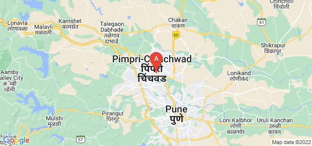 map of Pimpri-Chinchwad, India