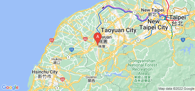 map of Pingzhen, Taiwan
