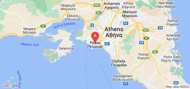 map of Piraeus, Greece