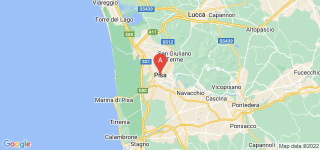 map of Pisa, Italy