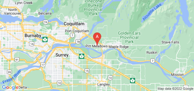 map of Pitt Meadows, Canada