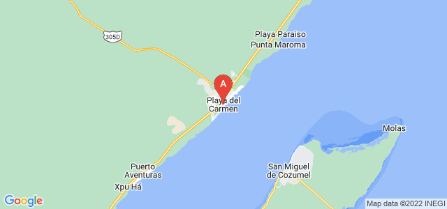 map of Playa del Carmen, Mexico