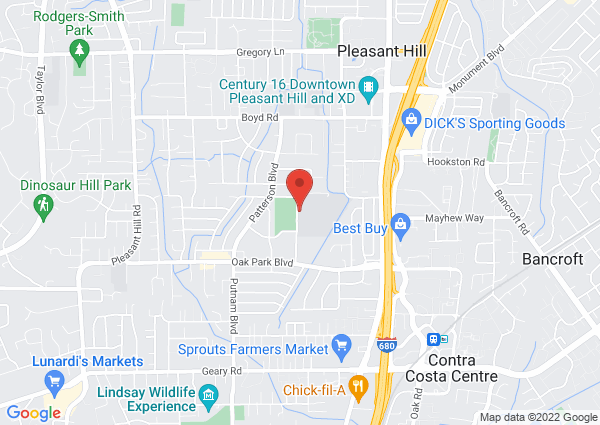 Map of Pleasant Hill Middle School, Santa Barbara Road, Pleasant Hill, CA, USA
