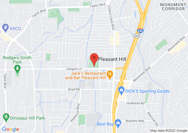 Map of Pleasant Hill Swimming Pool, Gregory Lane, Pleasant Hill, CA, USA