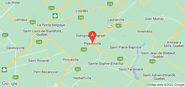 map of Plessisville, Canada
