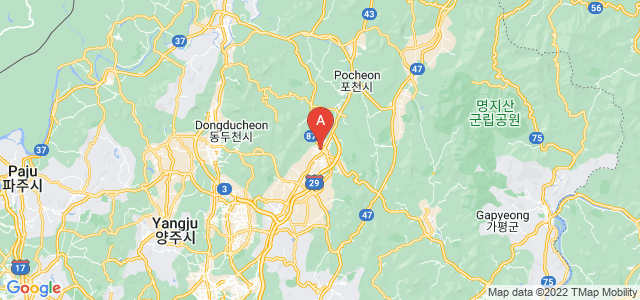 map of Pocheon, South Korea