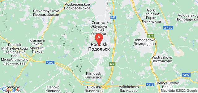 map of Podolsk, Russia