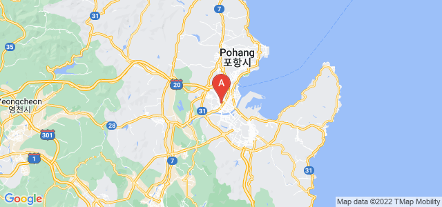map of Pohang, South Korea
