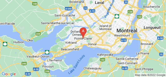 map of Pointe-Claire, Canada