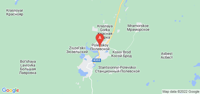 map of Polevskoy, Russia
