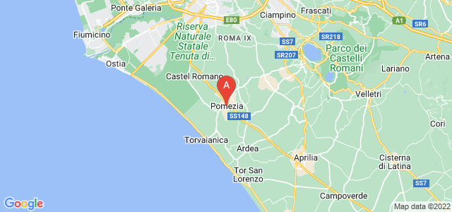 map of Pomezia, Italy