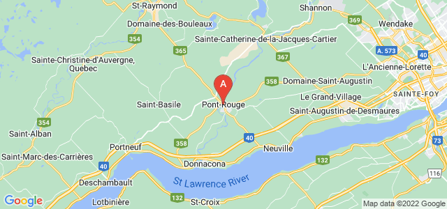 map of Pont-Rouge, Canada