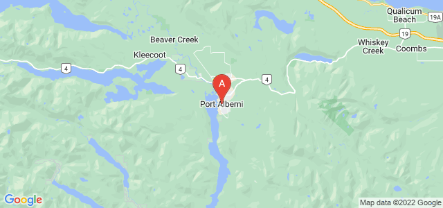 map of Port Alberni, Canada