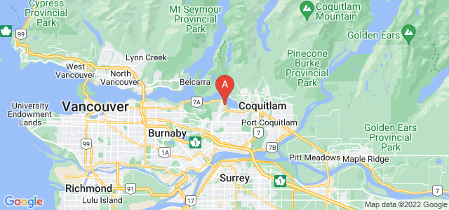 map of Port Moody, Canada
