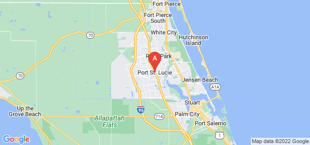 map of Port Saint Lucie, United States of America