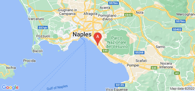 map of Portici, Italy