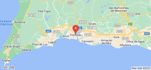 map of Portimão, Portugal