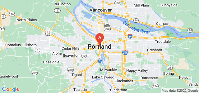 map of Portland, United States of America