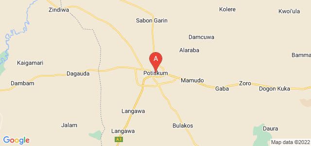 map of Potiskum, Nigeria